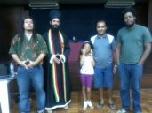 Alguns integrantes do INEG com o Sacerdote Rastafari