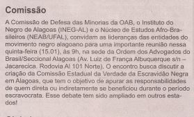 """Coluna """"Axé"""" do Jornal Tribuna Independente (AL) de 13 de Janeiro de 2015."""