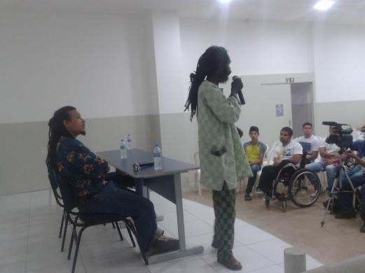 Palestra sobre Cultura Rastafari.