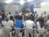 Roda de conversa com alunos da Escola Hevia Valéria Maia de Amorim.